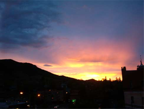 my westward view at dusk